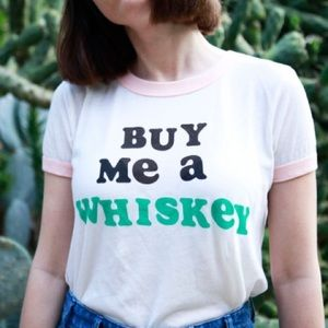 Wildfox Buy Me A Whiskey Ringer Tee